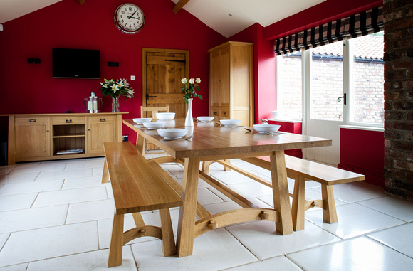 Property photography, modern Farmhouse dining area.